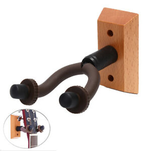 Gitarre-Kleiderbuegel-aus-Holz-Wandmontage-Haken-Halter-Akustikgitarre-Keeper-Pw