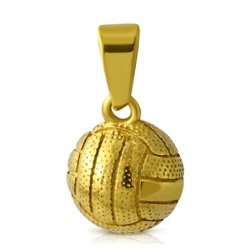 Colgante de acero inoxidable balonmano voleibol fútbol colgante collar de oro plata
