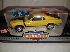 ERTL American Muscle 7484 Boss Mustang 1970 Yellow/Black 1/18 Mint & Boxed
