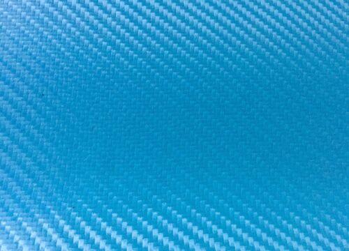 Kunstleder Carbon Look POWDER BLUE Meterware schwer Entflammbar super dehnbar