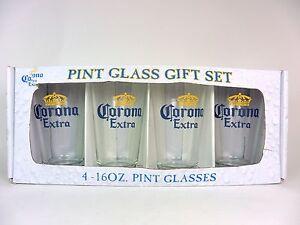 Corona-Pint-Beer-Glasses-Gift-Set-Four-4-Glasses