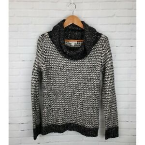 Coldwater-Creek-M-Chunky-Knit-Cowl-Neck-Sweater