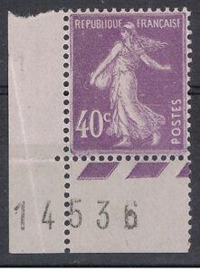1927-31 - N° 236 ** 40c violet Bord de feuille avec coin daté 14-5-36 défaut d - France - EBay Trs beau - France