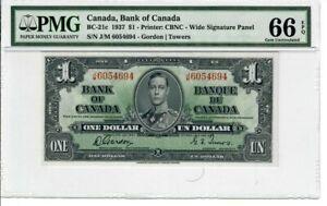 Canada-1-Dollar-Banknote-1937-BC-21c-PMG-GEM-UNC-66-EPQ