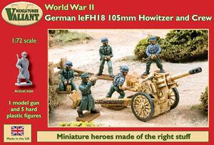 Valiant-miniatures-wwii-Aleman-leFH18-105mm-Howitzer-amp-Crew-KIT-JUEGOS-DE
