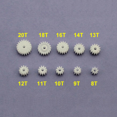 10-100P 0.5 Modulus Motor Gear Bore 1.95mm 8T 9T 10T 11T 12T 13T 14T 16T 18T 20T
