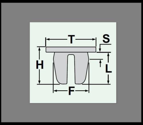 5x PASSARUOTA copertura radhaus klips Clip Copertura Di Fissaggio Toyota Nere 59