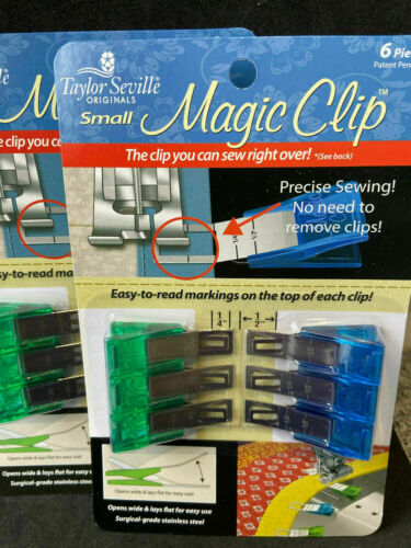 Taylor Seville /'Magic Clips/' Sew Over with Precise Measurements 6 Pack Big//Small