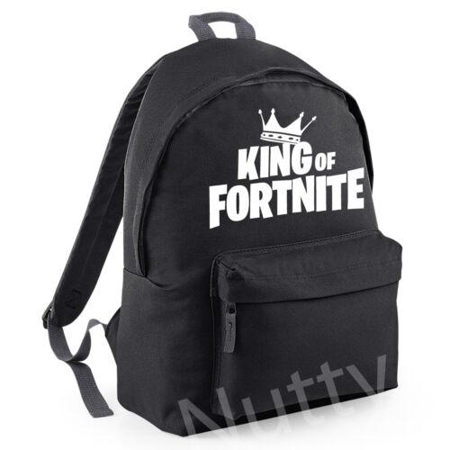 KIDS VICTORY ROYALE BACKPACK FOR GAMING NITE  RUCKSACK SCHOOL KING OF
