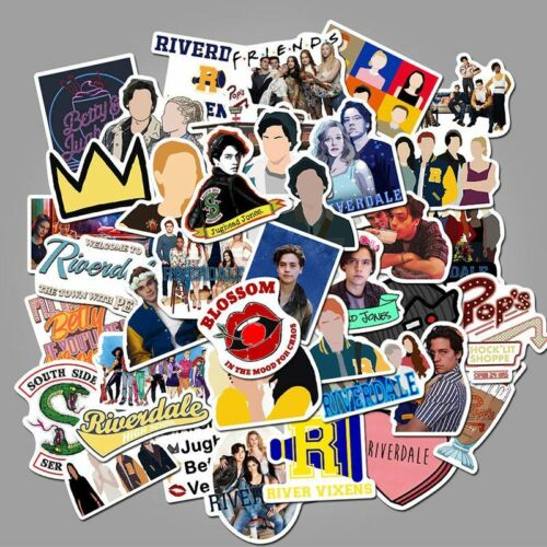 50pcs//Set Riverdale Themed Funny Decal Stickers Waterproof Vinyl Luggage Laptop