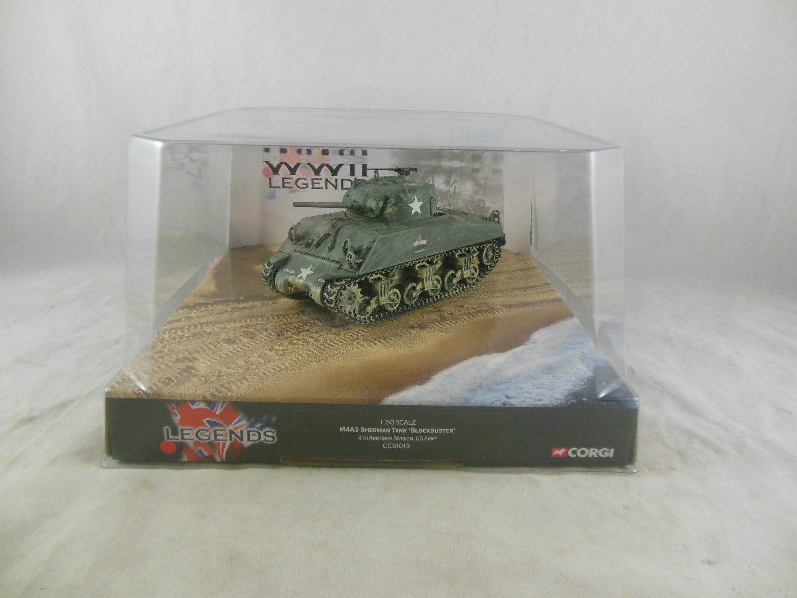 Corgi militaire ref cc 51016 char sherman m4a3 1   50
