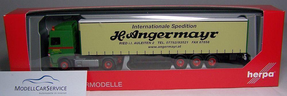 Herpa 306096   DAF XF Sc Plan Curtain - Trailer   Angermayr (A