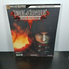 Final Fantasy Vii Dirge Of Cerberus Guide Book Ps2 For Sale Online