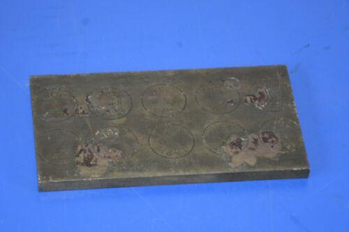 alter Messingblock ca 12,2cm x 6,5cm x 6mm