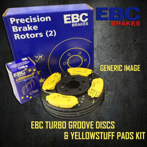 NEW EBC 303mm REAR TURBO GROOVE GD DISCS AND YELLOWSTUFF PADS KIT PD13KR261