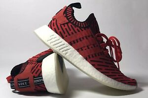 fade9b502 ADIDAS NMD R2 CORE RED CORE BLACK FOOTWEAR WHITE BB2910 SIZE 9 NWOB ...