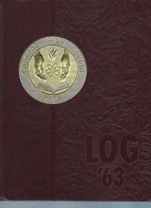 Redwood-High-School-LOG-Yearbook-Larkspur-Calif-Class-of-1963-Hardbound-RARE