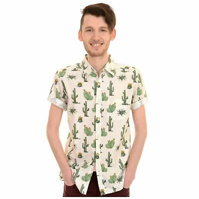 Vornehm Cactus Print Shirt By Run And Fly Retro Rockabilly S/m/l/xl/xxl Bnwt/new