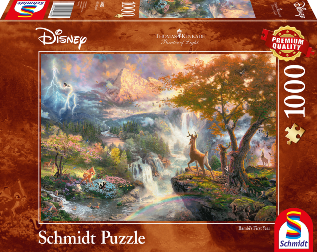 1000 pcs jigsaw puzzle: Thomas Kinkade - Disney Bambi (Disney) (Schmidt 59486)