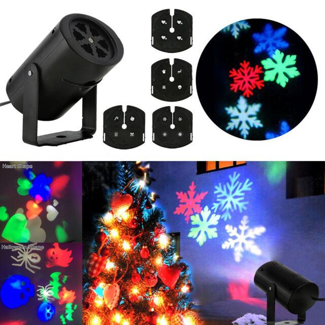 Snow Falling LED Moving Laser Projector Light Christmas Night Lamp Xmas Décor UK