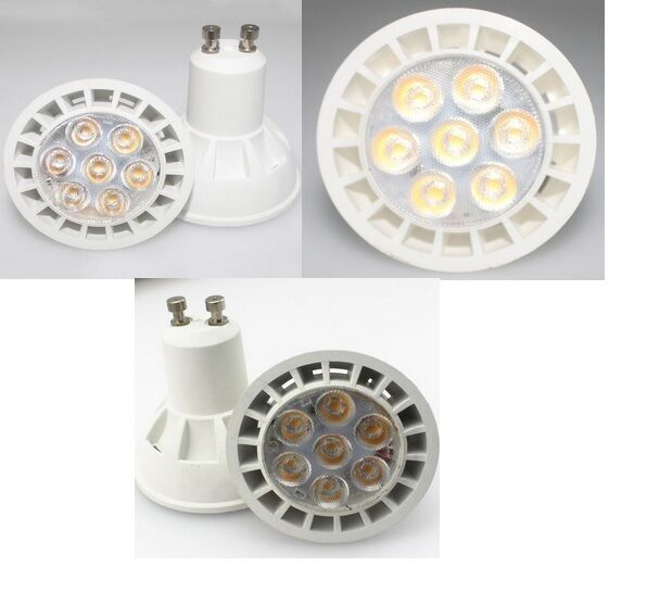 6 AMPOULE LED MAISON GU10 7W A 7 LED SMD 220V - Farbe Weiß FROID 6000K