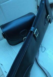 New-Sheep-Skin-Leather-Gun-Case-Slip-Matching-Cartridge-Bag-Beautiful-Design