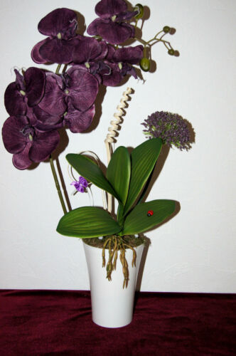 Orchideen Kunstblume Tischdeko künstliche Blume Dekoration Büro Deko Dekor K16