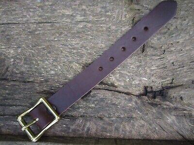 """Large Solide Boucle en Laiton Diverses Longueurs Utilitaire Sangle en cuir véritable 19 mm 3//4/"""""""