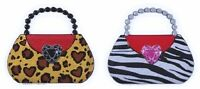 Handbag Purses - Leopard & Zebra Animal Print Pop Top Cake Topper Decoration
