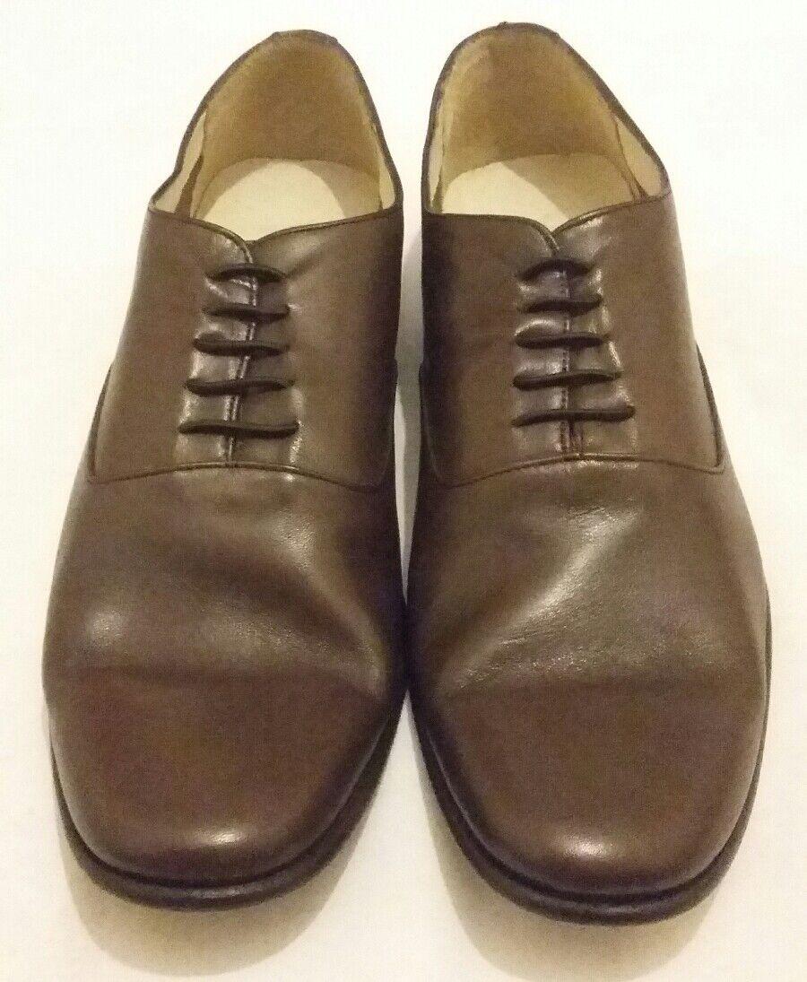 Classique YMC élastique dentelle cuir Chaussures Marron Taille UK 9 EU 43