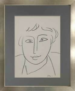 Henri MATISSE Lithograph Limited Edition - SIGN - Woman Study 1955- Custom Frame