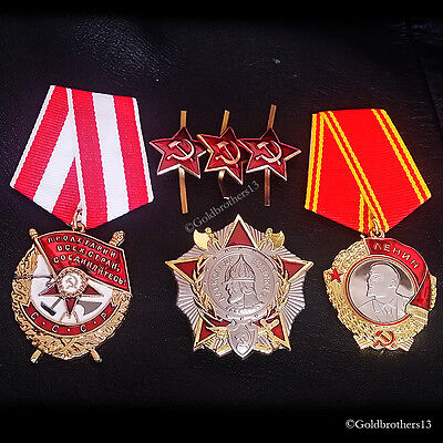 5x Order of Lenin Patriotic War Red Banner /& Nevsky Russian Repro Red Star