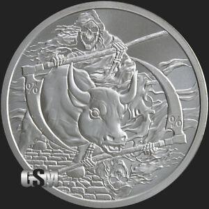 1-oz-Rate-Reaper-Inverted-BU-MiniMintage-Silver-Round-Silver-Shield-999-Fine