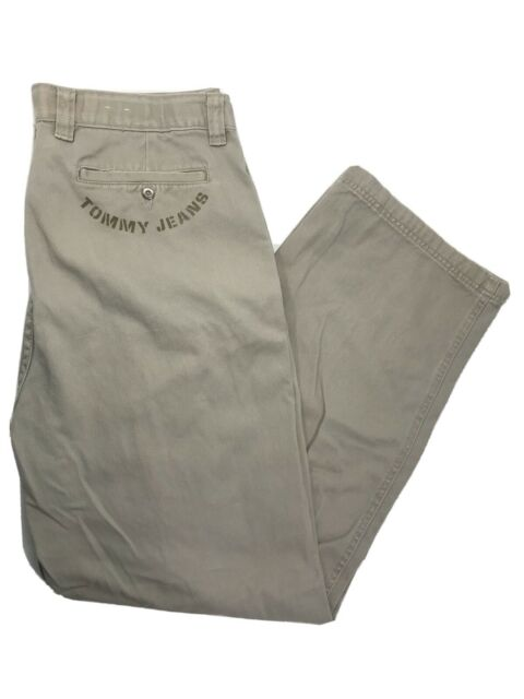 VTG Mens Tommy Hilfiger Size 36 x 32 Beige Straight Fit Cotton Jeans Tan Pants