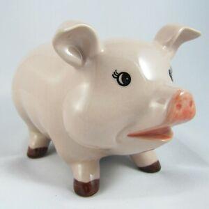 Vintage Ceramic Pig Piggy Bank Money Coins Banks Penny