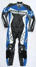 Top HONDA MotoGP Gr. 54 Zweiteiler Lederkombi schwarz blau Leather Suit