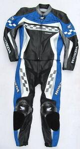 Top-HONDA-MotoGP-Gr-54-Zweiteiler-Lederkombi-schwarz-blau-Leather-Suit