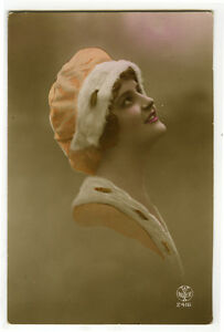 1910s-Glamor-Glamour-PRETTY-YOUNG-LADY-French-photo-postcard