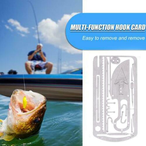 EDC Hunting Fishing Wilderness Survival Card Hooks Arrow Tool Saw Multi Tools