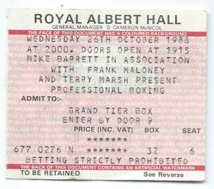 PROFESSIONAL-BOXING-October-1988-Royal-Albert-Hall-Frank-Maloney-Terry-Marsh