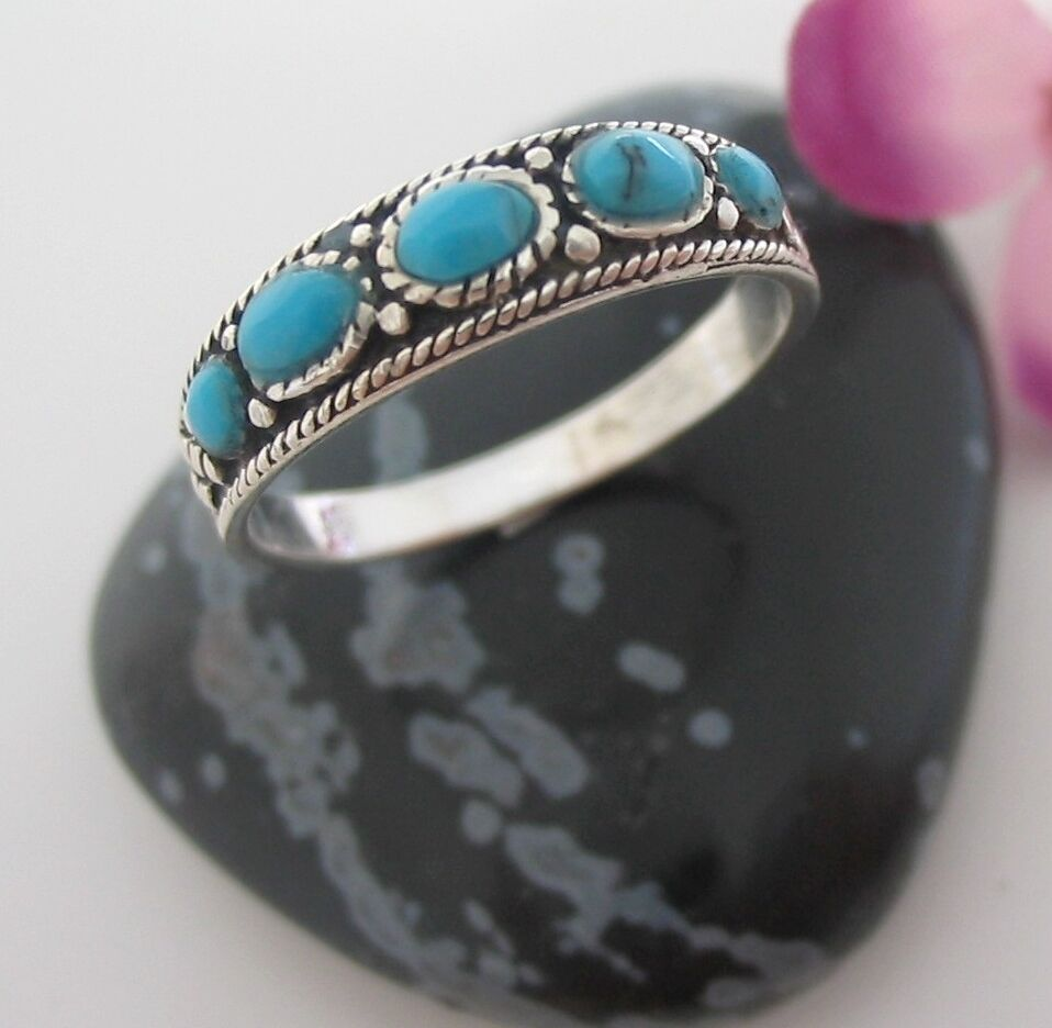 Ring mit Türkis Echt Silber 925 Damenschmuck Silberring 5