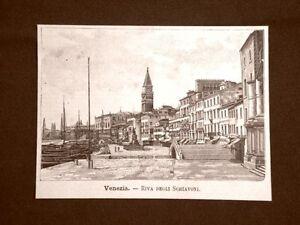 Incisione-del-1891-Venezia-Riva-degli-Schiavoni-Veneto