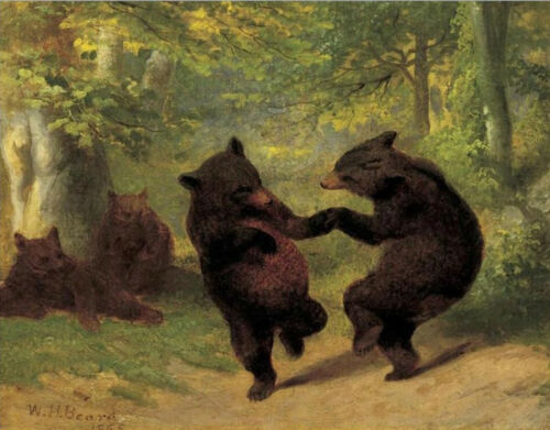 Dancing Bears   by William Holbrook Beard  Paper Print Repro