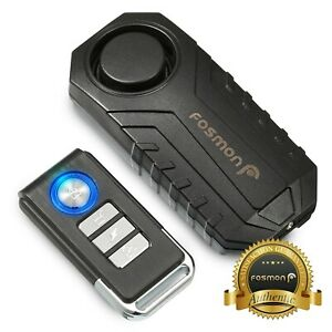 Loud 113dB Wireless Anti-Theft Vibration Motorcycle Alarm Bike Security Remote