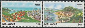 94-MALAYSIA-1981-100TH-ANNIVERSARY-OF-SABAH-SET-2V-FRESH-MNH-CAT-RM-13