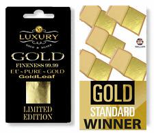 LIMITED EDITION EDIBLE 24K genuine Gold Leaf Sheets. For cakes, drinks, Design