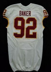 92-Chris-Baker-of-Washington-Redskins-NFL-Game-Issued-Lightly-Worn-Jersey