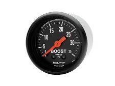 "Auto Meter 2616 Z-Series Mechanical Boost Gauge 2 1/16"" Turbo / Blower 0-35 Psi"