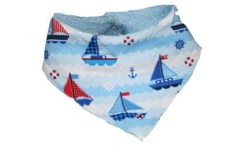 Farbgewitter Baby Halstuch Sabbertuch Sabby Captain Anchor hellblau Segelboote