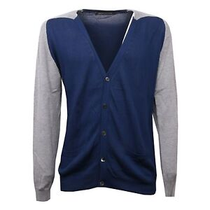 d69d053339 Image is loading C3358-maglione-uomo-PRIVATE-LIVES-cotone-cardigan-nolabel-